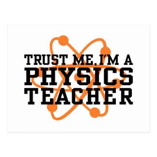 Profesor de la física tarjeta postal