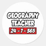 Profesor de la geografía 24-7-365 etiqueta