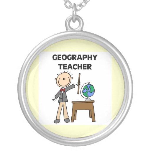 Profesor de la geografía joyeria personalizada