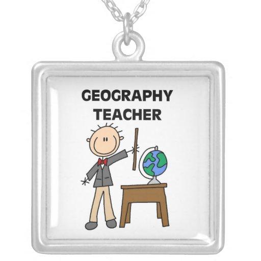 Profesor de la geografía collares