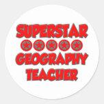 Profesor de la geografía de la superestrella pegatinas