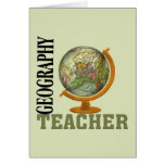 Profesor de la geografía del globo del mundo tarjetas