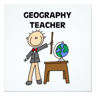 """Profesor de la geografía invitación 5.25"""" x 5.25"""""""