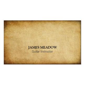 Profesor de la guitarra del músico de la música de plantilla de tarjeta de visita