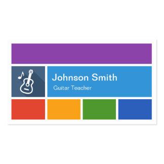 Profesor de la guitarra - estilo moderno creativo tarjetas de visita