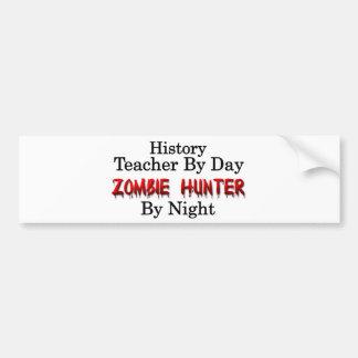 Profesor de la historia/cazador del zombi pegatina para auto