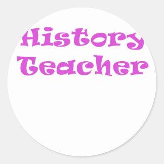Profesor de la historia pegatinas redondas