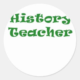 Profesor de la historia etiquetas redondas