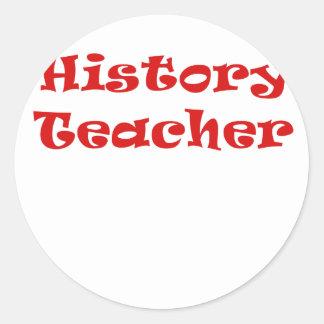 Profesor de la historia pegatina redonda