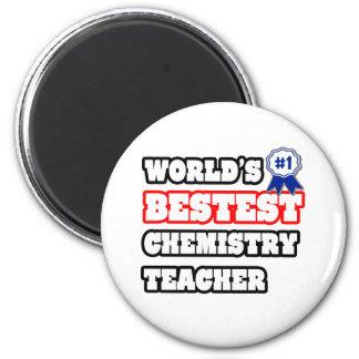 Profesor de la química de Bestest del mundo Imán Redondo 5 Cm