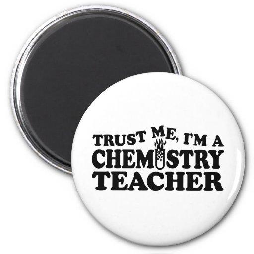 Profesor de la química imán de frigorifico