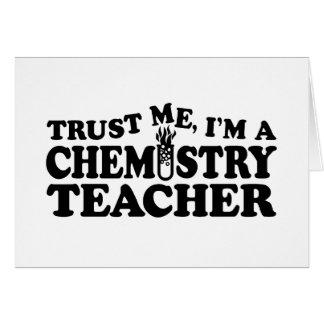 Profesor de la química tarjeta