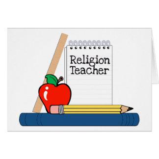 Profesor de la religión cuaderno felicitaciones