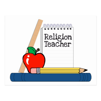 Profesor de la religión cuaderno tarjetas postales
