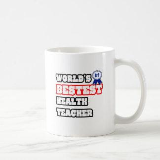 Profesor de la salud de Bestest del mundo Taza