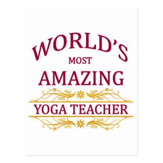Profesor de la yoga postales