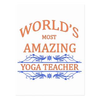 Profesor de la yoga tarjetas postales