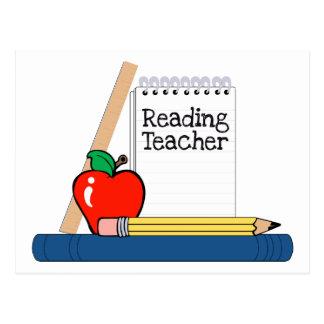 Profesor de lectura (cuaderno) postal