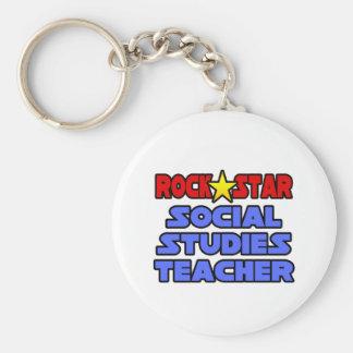 Profesor de los estudios sociales de la estrella d llavero