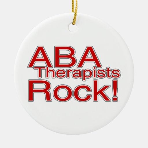 Profesor de los terapeutas del autismo del ABA Adorno Navideño Redondo De Cerámica