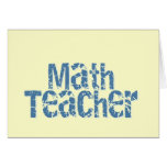Profesor de matemáticas apenado azul del texto felicitaciones