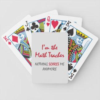 Profesor de matemáticas barajas de cartas