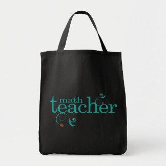 Profesor de matemáticas bolsa tela para la compra