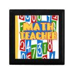 Profesor de matemáticas caja de regalo