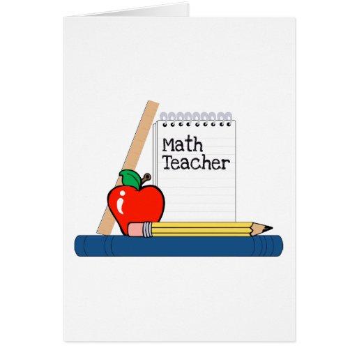 Profesor de matemáticas (cuaderno) tarjeta de felicitación