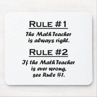 Profesor de matemáticas de la regla tapete de ratones