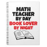 Profesor de matemáticas del aficionado a los libro libreta