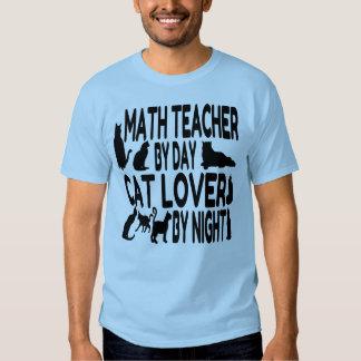 Profesor de matemáticas del amante del gato playera