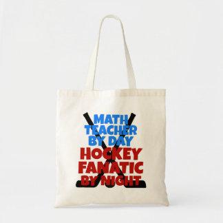 Profesor de matemáticas del amante del hockey bolsa tela barata