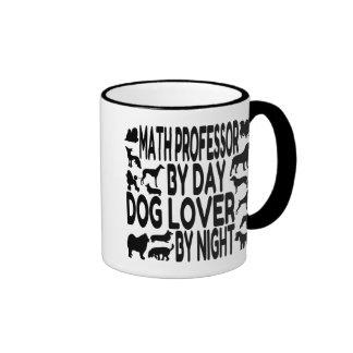 Profesor de matemáticas del amante del perro taza a dos colores