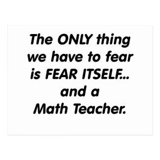 Profesor de matemáticas del miedo tarjetas postales