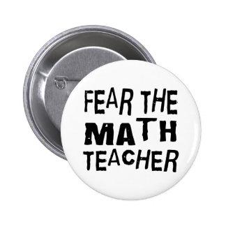 Profesor de matemáticas divertido pin redondo de 2 pulgadas