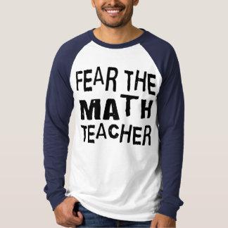 Profesor de matemáticas divertido playeras