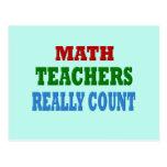 Profesor de matemáticas divertido tarjetas postales