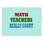 Profesor de matemáticas divertido tarjetas
