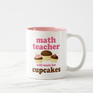 Profesor de matemáticas divertido taza de café de dos colores