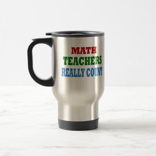Profesor de matemáticas divertido taza térmica
