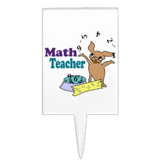 Profesor de matemáticas figura para tarta