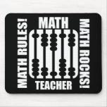 profesor de matemáticas fresco alfombrilla de ratón