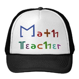 Profesor de matemáticas gorras