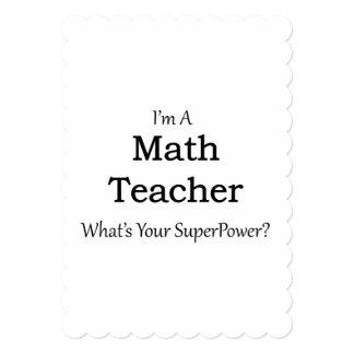 "Profesor de matemáticas invitación 5"" x 7"""