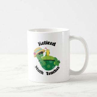Profesor de matemáticas jubilado (tortuga) tazas de café