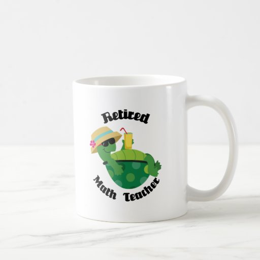 Profesor de matemáticas jubilado (tortuga) taza