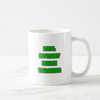 Profesor de matemáticas malvado del mutante taza de café