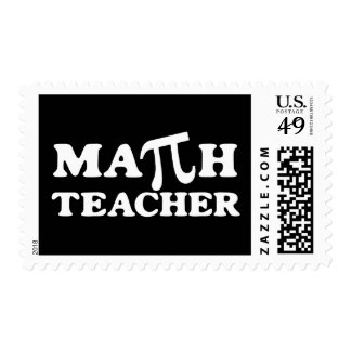 Profesor de matemáticas pi estampilla