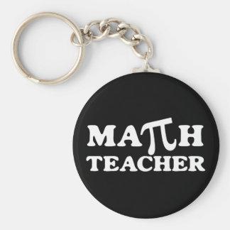 Profesor de matemáticas pi llavero redondo tipo pin